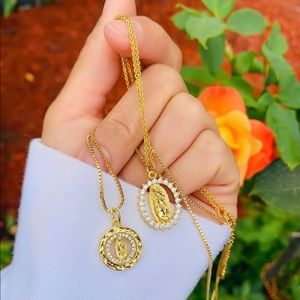 Morena and Proud 24k gold plated Virgin Marry